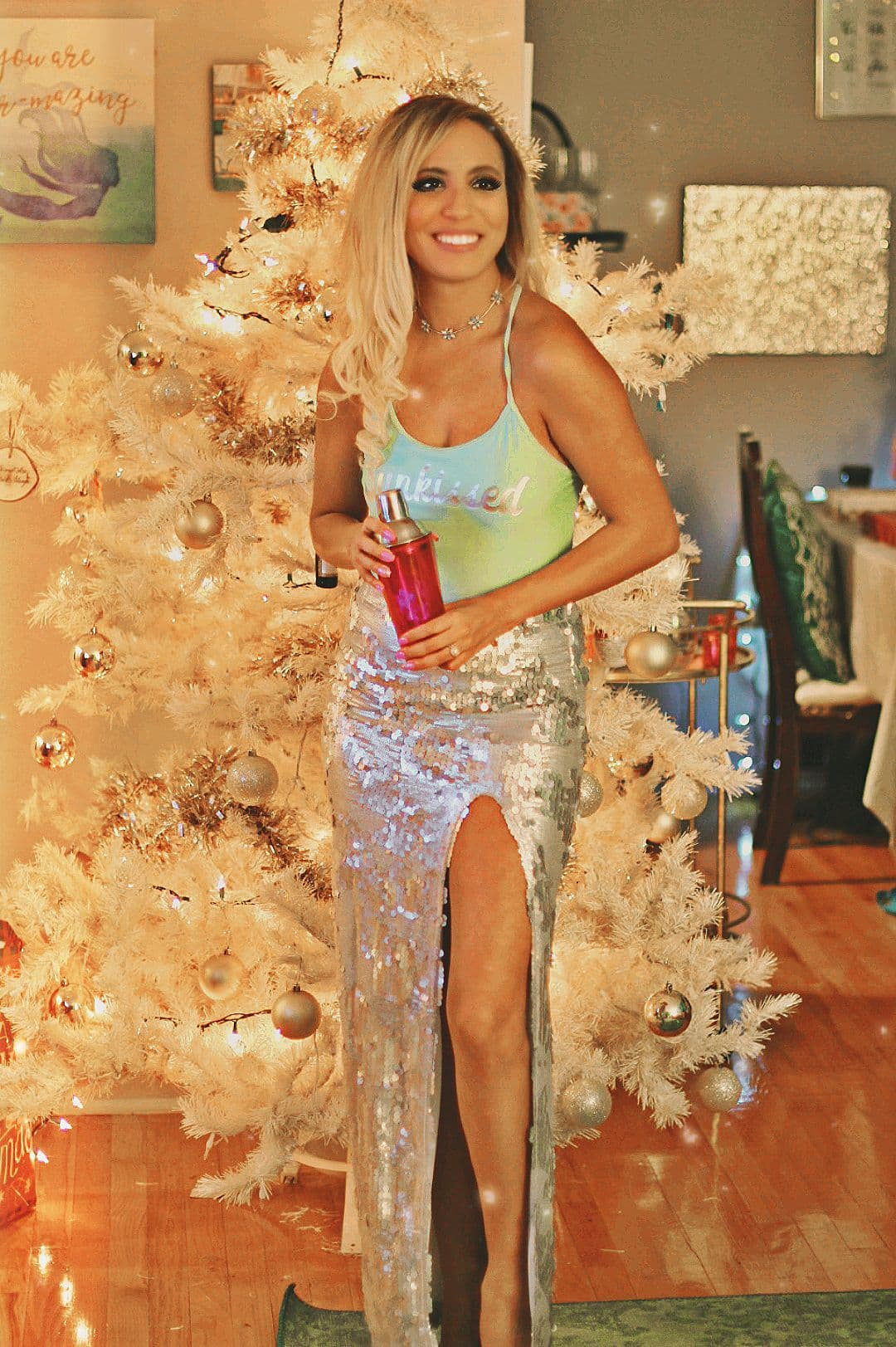 sparkle new years skirt